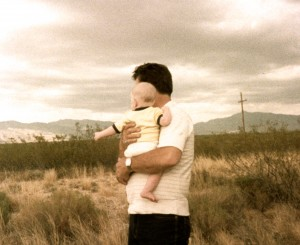 Nathan and Papa May 1984 - Somewhere in New Mexico...