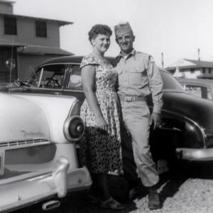 Wayne and Geri  1956, Fort Leonardwood, MO.