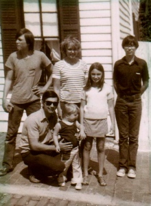 Fredrick Scott Will Sr. and family, 1973, Hannibal, Missouri
